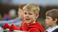 A young Wales fan savours the atmosphere before the game<br /> <br /> Photographer Alex Dodd/CameraSport<br /> <br /> RBS Six Nations U20 Championship Round 4 - Wales U20s v Ireland U20s - Saturday 11th March 2017 - Parc Eirias, Colwyn Bay, North Wales<br /> <br /> World Copyright &copy; 2017 CameraSport. All rights reserved. 43 Linden Ave. Countesthorpe. Leicester. England. LE8 5PG - Tel: +44 (0) 116 277 4147 - admin@camerasport.com - www.camerasport.com