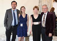 NWA Democrat-Gazette/CARIN SCHOPPMEYER Joe and Katie Lindgren (from left) and Suzanne and Wayne Rhodes attend Poker & Ponies.