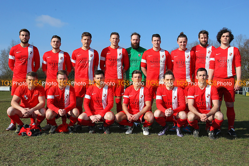 Tiptree Elite team photo ahead of Tiptree Elite vs CFC Shalford Reserves, Braintree & North Essex League Division One Cup Final Football at Rosemary Lane on 13th March 2016