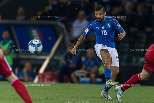 Lorenzo Insigne (ITA), JUNE 10, 2017 - Football / Soccer : FIFA World Cup Russia 2018 European Qualifier Group G match between Italy 5-0 Liechtenstein at Dacia Arena in Udine, Italy. (Photo by Maurizio Borsari/AFLO)