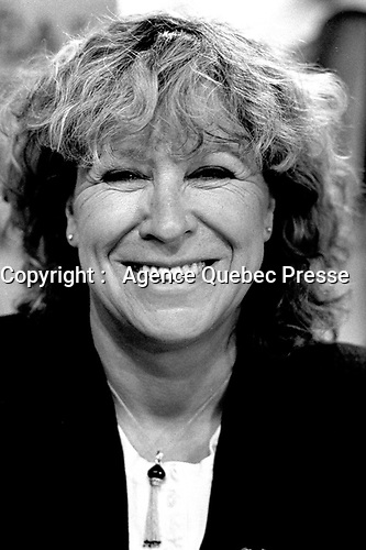 Montreal, CANADA - File Photo -  Margaret Von Trotta news conference at the World Film Festival, September 1, 1988.<br /> <br /> Photo : Agence Quebec Presse  - Pierre Roussel
