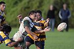 Peter Epati gets a pass away . Counties Manukau Premier Club Rugby, Patumahoe vs Manurewa played at Patumahoe on Saturday 6th May 2006. Patumahoe won 20 - 5.