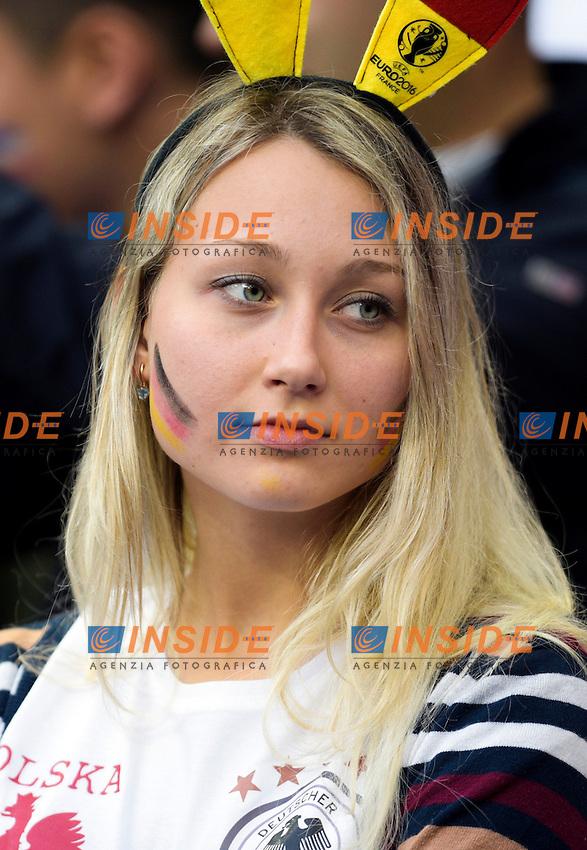 Tifosi Germania  Fans Germany <br /> Paris 16-06-2016 Stade de France Football Euro2016 Germany - Poland / Germania - Polonia Group Stage Group C. Foto Federico Pestellini / Panoramic / Insidefoto