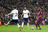 Raheem Sterling of Manchester City and Kieran Trippier of Tottenham Hotspur during Tottenham Hotspur vs Manchester City, Premier League Football at Wembley Stadium on 14th April 2018