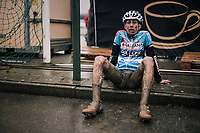 post-race daze<br /> <br /> Junior Men's Race<br /> Belgian National CX Championschips<br /> Kruibeke 2019