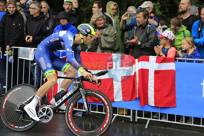Pieter Vanspeybrouck (BEL) Wanty-Groupe Gobert in action during Stage 1, a 14km individual time trial around Dusseldorf, of the 104th edition of the Tour de France 2017, Dusseldorf, Germany. 1st July 2017.<br /> Picture: Eoin Clarke | Cyclefile<br /> <br /> <br /> All photos usage must carry mandatory copyright credit (&copy; Cyclefile | Eoin Clarke)