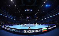 GRIGOR DIMITROV (BUL), DAVID GOFFIN (BEL)<br /> <br /> TENNIS - NITTO ATP FINALS - 02 ARENA, LONDON, UNITED KINGDOM, 2017  <br /> <br /> <br /> <br /> &copy; TENNIS PHOTO NETWORK