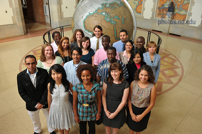 Sept. 2, 2011; Kroc Masters Degree students..Photo by Matt Cashore/University of Notre Dame