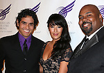 Adam Jacobs, Courtney Reed and  James Monroe Iglehart attending the The 2013 American Theatre Wing's Annual Gala honoring Harold Prince at the Plaza Hotel in New York City on September 16, 2013