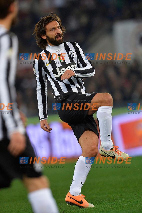 Andrea Pirlo Juventus <br /> Roma 21-01-2014 Stadio Olimpico - Football Calcio Coppa Italia 2013/2014 AS Roma - Juventus Foto Andrea Staccioli / Insidefoto