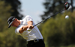 NORTH PLAINS, OR - AUGUST 23: Scott Pinckney hits his drive on the third hole during third round of the WinCo Foods Portland Open presented by Kraft on August 23, 2014 in North Plains, Oregon.  (Photo by Steve Dykes/Getty Images) *** Local Caption *** Scott Pinckney