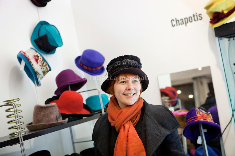 Village des Createurs boutique, Passage Thiaffait, Lyon, France, 14 January 2012Lyon, France, 14 January 2012
