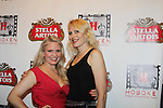Terri Conn (stars in Jack and Diane) and poses with friend Jane - Hoboken International Film Festival opening night June 3 and continuing through June 9, 2016 at the Paramount Theatre in Middletown, New York honoring Martin Kove and Danny Aiello. (Photo by Sue Coflin/Max Photos)