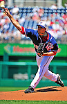 4 July 2010: Washington Nationals pitcher Craig Stammen on the mound against the New York Mets at Nationals Park in Washington, DC. The Mets defeated the Nationals 9-5, splitting their 4-game series. Mandatory Credit: Ed Wolfstein Photo