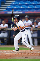 Canisius College Golden Griffins shortstop Anthony Massicci (7) at bat during the first game of a doubleheader against the Michigan Wolverines on February 20, 2016 at Tradition Field in St. Lucie, Florida.  Michigan defeated Canisius 6-2.  (Mike Janes/Four Seam Images)