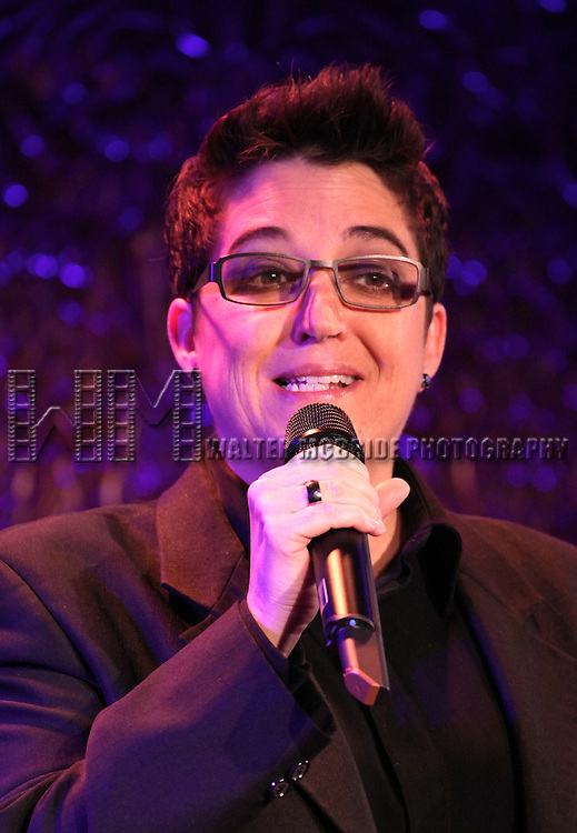 Terese Genecco performing a press preview at 54 Below on 10/24/2012 in New York City.