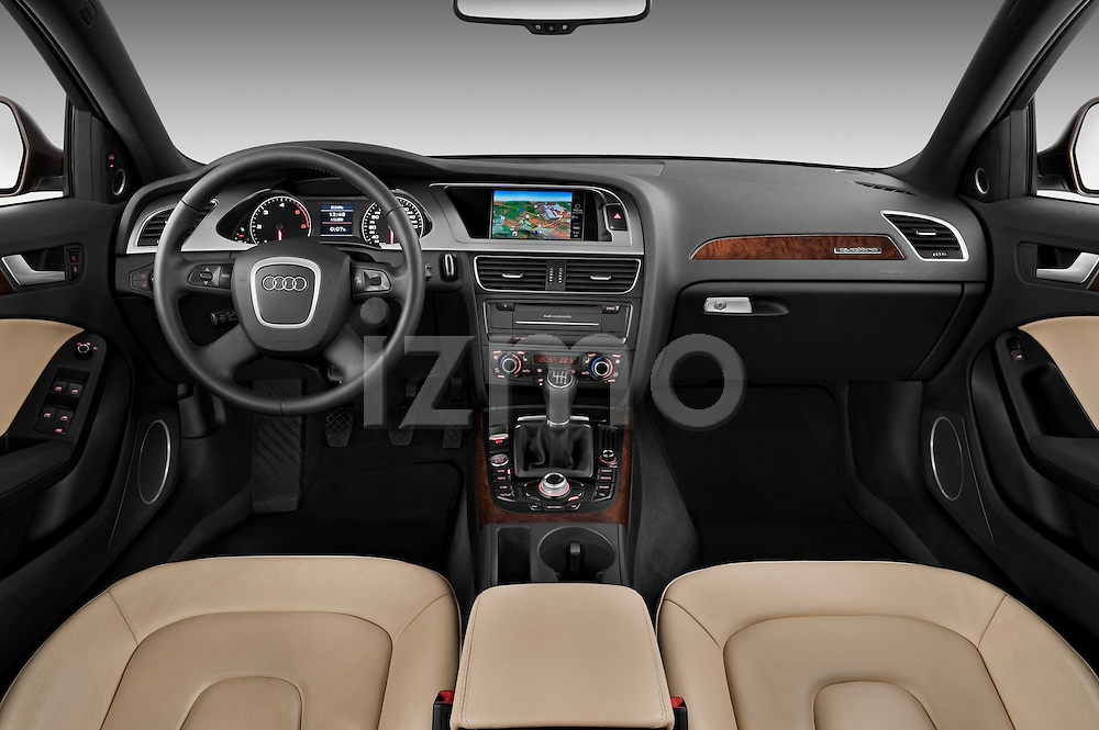 Straight dashboard view of a 2011 Audi A4 Allroad Quattro 2.0l TDI 5 Door Wagon