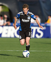 Bobby Convey of Earthquakes in action during the gaame against the Crew at Buck Shaw Stadium in Santa Clara, California on June 2nd, 2010.  San Jose Earthquakes tied Columbus Crew, 2-2.