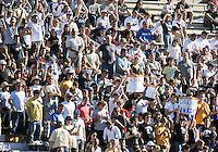 Fans of the University of Akron during the 2010 College Cup final against the University of Louisville at Harder Stadium, on December 12 2010, in Santa Barbara, California. Akron champions, 1-0.