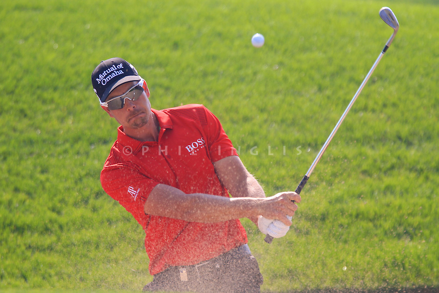 Henrik Stenson (SWE) in action during the third round of the Commercial Bank Qatar Masters played at Doha Golf Club, Doha, Qatar. 22 - 25th January 2014 (Picture Credit / Phil Inglis)