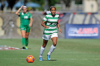 8 November 2015:  North Texas Midfield Karla Pineda (9) advances the ball in the second half as the University of North Texas Mean Green defeated the Marshall University Thundering Herd, 1-0, in the Conference USA championship game at University Park Stadium in Miami, Florida.