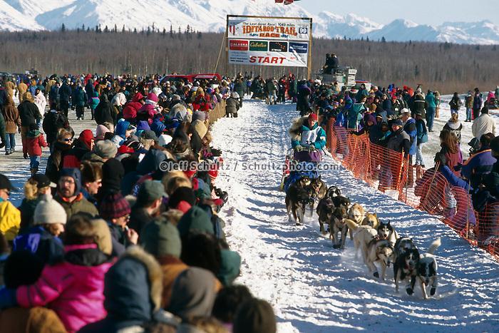R Redington Leaving Wasilla Restart Iditarod 99 AK