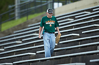 "Paul Buchanan, aka ""Uh-Huh"" Guy, takes in the ACC baseball game between the Miami Hurricanes and the Wake Forest Demon Deacons at David F. Couch Ballpark on May 11, 2019 in  Winston-Salem, North Carolina. The Hurricanes defeated the Demon Deacons 8-4. (Brian Westerholt/Four Seam Images)"