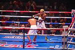 NOV 23 2019 Las Vegas Nevada: Leduan Barthelemy, (White trunks) 127lbs  Guantanamo, CUB vs Eduardo Ramirez, (Green white trunks) 126lbs  Los Mochis, MEX Featherweights 10 round on FS2/PBC