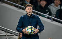 Spurs manager Mauricio Pochettino during the UEFA Champions League group match between Tottenham Hotspur and Bayern Munich at Wembley Stadium, London, England on 1 October 2019. Photo by Andy Rowland.