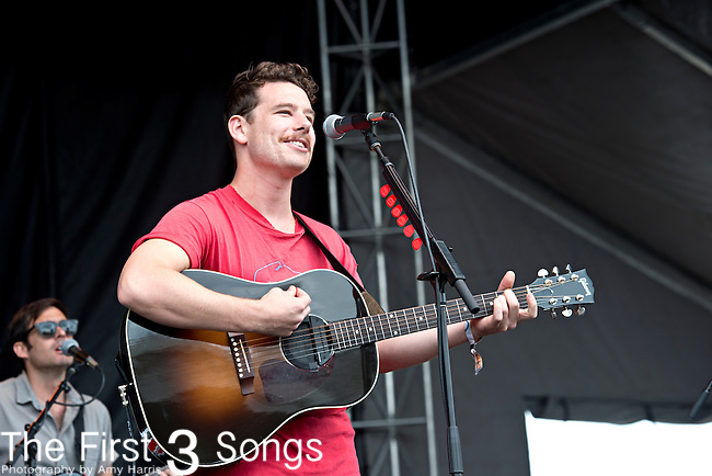 Dave Hosking of Boy & Bear performs during the Forecastle Music Festival at Waterfront Park in Louisville, Kentucky.