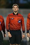 05 October 2015: Fourth Official Michael M. Gregory. The Duke University Blue Devils hosted the Hofstra University Pride at Koskinen Stadium in Durham, NC in a 2015 NCAA Division I Men's Soccer match. Duke won the game 3-2 in overtime.