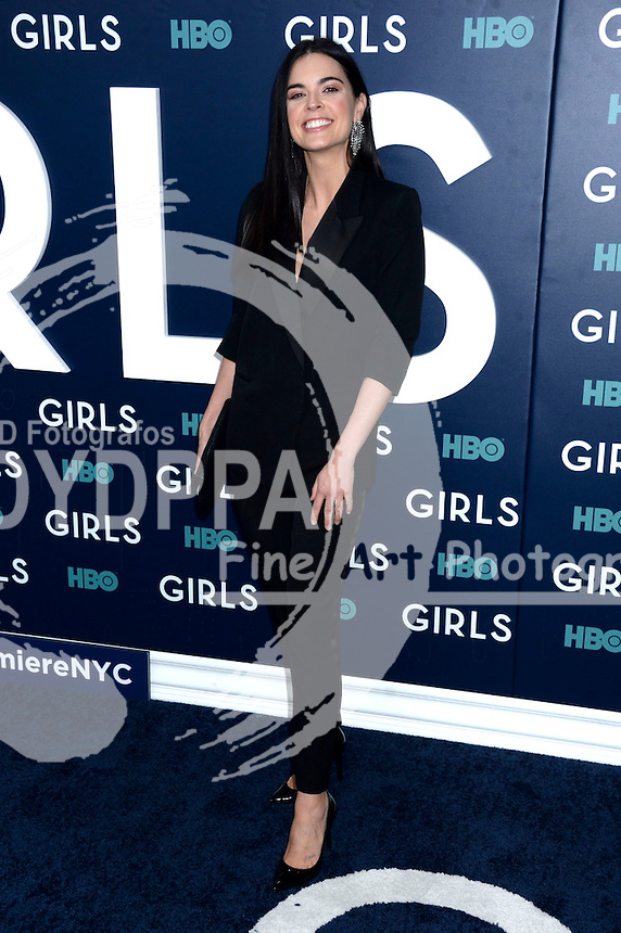 Katie Lee attends the 'Girls' premiere at Alice Tully Hall, Lincoln Center on February 2, 2017 in New York City.