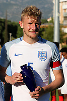 England Captain, Joe Worrall, collects another Award at the Presentations after the match during England Under-18 vs Ivory Coast Under-20, Toulon Tournament Final Football at Stade de Lattre-de-Tassigny on 10th June 2017