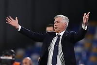 Carlo Ancelotti coach of Napoli gestures<br /> Napoli 25-9-2019 Stadio San Paolo <br /> Football Serie A 2019/2020 <br /> SSC Napoli - Cagliari SC<br /> Photo Cesare Purini / Insidefoto