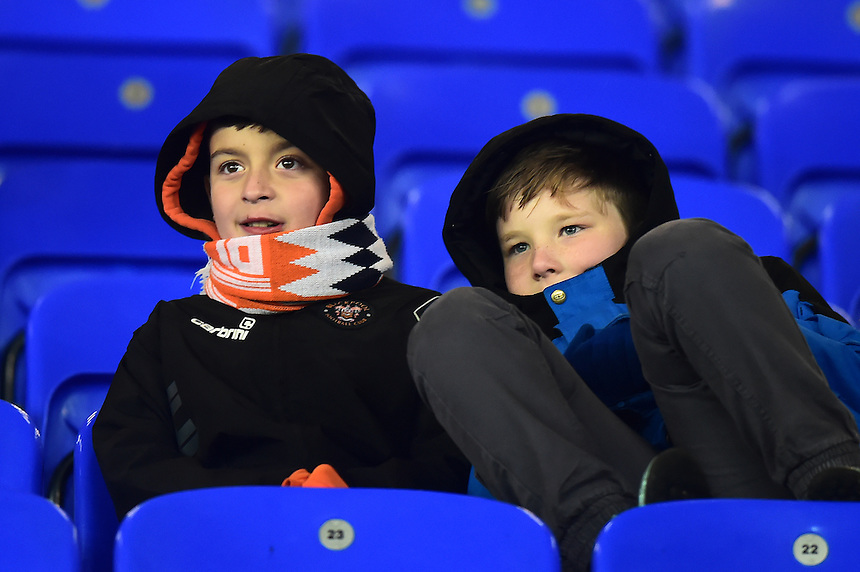 Young Blackpool fans look on<br /> <br /> Photographer Richard Martin-Roberts/CameraSport<br /> <br /> The Checkatrade Trophy - Northern A - Everton U21 v Blackpool - Tuesday 8th November 2016 - Goodison Park - Liverpool<br />  <br /> World Copyright &copy; 2016 CameraSport. All rights reserved. 43 Linden Ave. Countesthorpe. Leicester. England. LE8 5PG - Tel: +44 (0) 116 277 4147 - admin@camerasport.com - www.camerasport.com