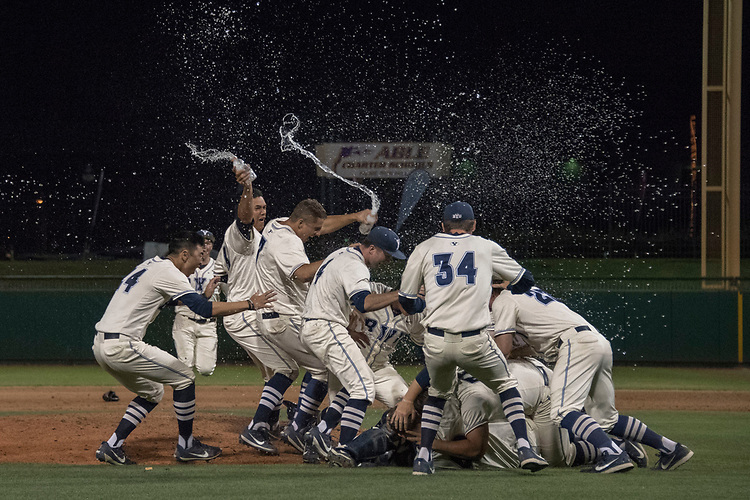 May 27, 2017; Stockton, CA, USA; BYU Cougars during the WCC Baseball Championship at Banner Island Ballpark.
