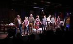 Joel Blum, Laura Darrell, Daniel Jenkins, Karen Ziemba, Jeffry Denman, Dee Roscioli, Ann Ariva and Blake Zolfo during the opening night performance curtain call for the Vineyard Theatre's 'Kid Victory' at the Vineyard Theatre on February 22, 2017 in New York City.