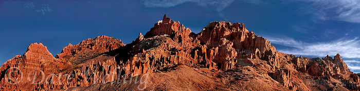910000002 panoramic view of panaca sandstone formations turned reddish gold by the rising sun in cathedral gorge state park in eastern nevada