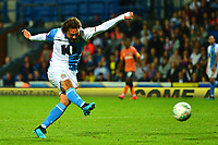 Blackburn Rovers' Bradley Dack scores his side's first goal  <br /> <br /> Photographer Richard Martin-Roberts/CameraSport<br /> <br /> The Carabao Cup First Round - Tuesday 13th August 2019 - Blackburn Rovers v Oldham Athletic - Ewood Park - Blackburn<br />  <br /> World Copyright © 2019 CameraSport. All rights reserved. 43 Linden Ave. Countesthorpe. Leicester. England. LE8 5PG - Tel: +44 (0) 116 277 4147 - admin@camerasport.com - www.camerasport.com