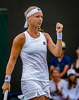London, England, 6 July, 2019, Tennis,  Wimbledon, Womans single: Kiki Bertens (NED) pumps herself<br /> Photo: Henk Koster/tennisimages.com