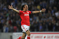 Benfica's Serbian forward Lazar Markovic celebrates victory of game during the League Cup football match between FC Porto and SL Benfica at Dragão Stadium in Porto on April 27, 2014 (PC: Pedro Lopes/Brazil Photo Press)