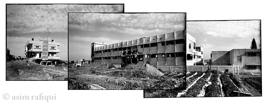 Location: Beit Lahiya, Gaza..The hulk of a high school shelled and bombed during operation 'Cast Lead'.