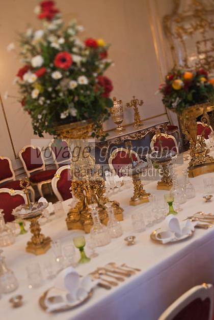 Europe/Autriche/Niederösterreich/Vienne: Palais de La Hofburg: Salle à manger du Château Impérial - Collection de l'Argenterie impériale