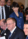 November 29, 2016, Tokyo, Japan - Tamayo Marukawa, a state minister representing the Japanese government, arrives for a four-party meeting to review costs and venues for the 2020 Tokyo Olympics and Paralympics at a Tokyo hotel on Tuesday, November 29, 2016. <br /> The four top-level representatives of the International Olympic Committee, 2020 Games organizers, the Tokyo Metropolitan and Japanese governments discussed details regarding the venues for rowing/canoe and volleyball based on proposals by the metropolitan government.  (Photo by Natsuki Sakai/AFLO) AYF -mis-