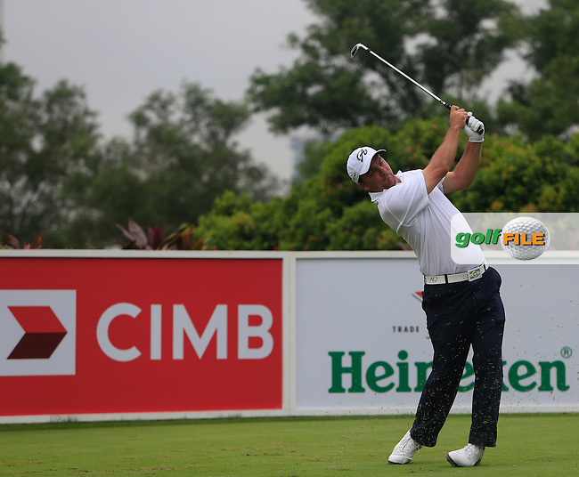 Nicholas Thompson (USA) on the 4th tee during Round 3 of the CIMB Classic in the Kuala Lumpur Golf &amp; Country Club on Saturday 1st November 2014.<br /> Picture:  Thos Caffrey / www.golffile.ie