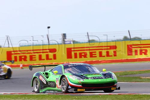 14.05.2016. Silvertone Circuit, Nathants, England. Blancpain Endurance GT Series motor racing.  #488 RINALDI RACING (DEU) FERRARI 488 GT3 PIERRE EHRET (DEU) STEF VANCAMPENHOUDT (BEL)