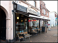BNPS.co.uk (01202 558833)<br /> Pic:  RogerArbon/BNPS<br /> <br /> Kelly's Kitchen.<br /> <br /> A retirement town that is overspilling with coffee shops is to get its 15th after officials lost their bid to put a lid on them.<br /> <br /> Councillors in Christchurch, Dorset, refused a Coffee#1 permission to take over an empty shop because the town had too many cafes.<br /> <br /> But the national chain appealed the decision and have won their case.<br /> <br /> It means there will now be 15 coffee shops in a 500 metre stretch of the High Street - or one every 33 metres.