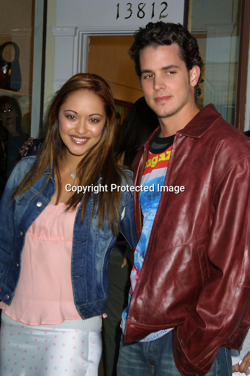 "©2003 KATHY HUTCHINS / HUTCHINS PHOTO.OPENING OF THE CLOTHING BOUTIQUE OWNED BY.LISA RINNA ..""BELLE GRAY"".13812 VENTURA BLVE.SHERMAN OAKS,CA...MARISSA RAMIREZ AND HUSBAND."