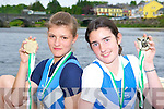 Killorglin rowers Monika Dukarska and Maeve McGillicuddy who won u18 double at the Fermoy regatta over the weekend Monika also won the u18 single schull, the senior ladies single schull and the novice ladies single schull..    Copyright Kerry's Eye 2008