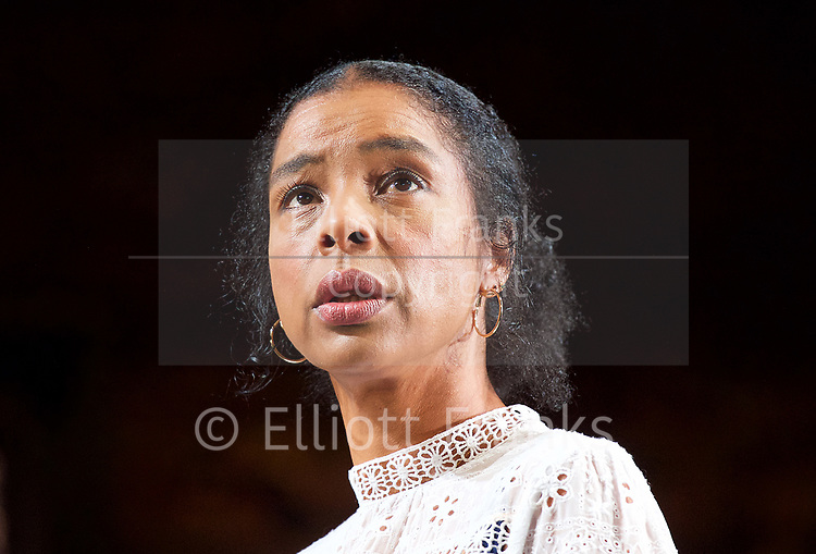 Edward Albee&rsquo;s The Goat or Who is Sylvia <br /> production by Ian Rickson <br /> at The Theatre Royal Haymarket London, Great Britain <br /> 30th March 2017 <br /> press photocall <br /> <br /> <br /> Sophie Okonedo as Stevie <br /> <br /> <br /> Photograph by Elliott Franks <br /> Image licensed to Elliott Franks Photography Services